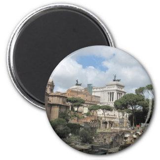 El foro romano - latín: Foro Romanum Imán Redondo 5 Cm