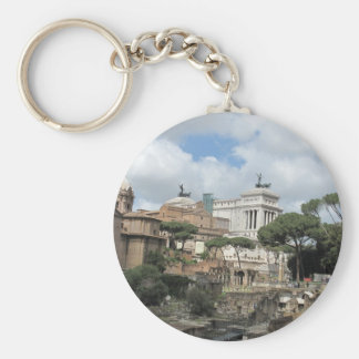 El foro romano - latín: Foro Romanum Llavero Redondo Tipo Pin