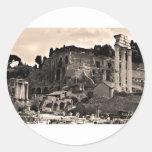 El foro romano pegatina redonda