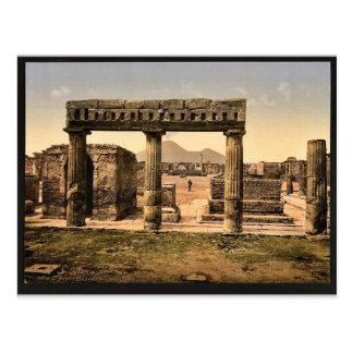 El foro, vintage Photochrom de Pompeya, Italia Postales