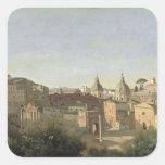 El foro visto de los jardines de Farnese Pegatina Cuadrada