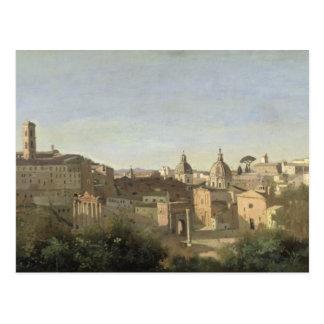 El foro visto de los jardines de Farnese Postal