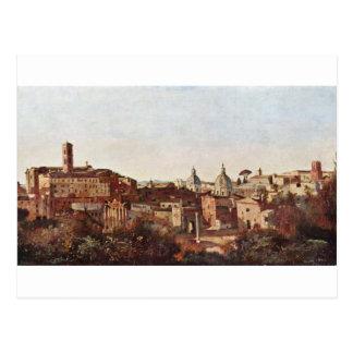 El foro visto del Farnese cultiva un huerto, Roma Tarjetas Postales