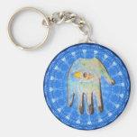 El forprotection del mal de ojo de dios de la mano llaveros personalizados