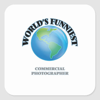 El fotógrafo comercial más divertido del mundo calcomania cuadradas personalizada