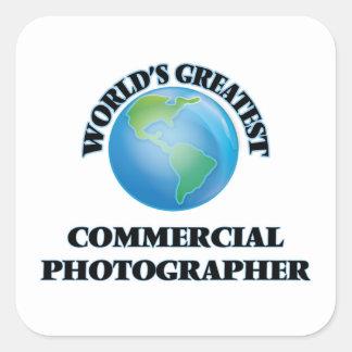 El fotógrafo comercial más grande del mundo calcomanías cuadradass