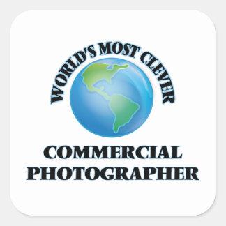 El fotógrafo comercial más listo del mundo pegatina cuadradas