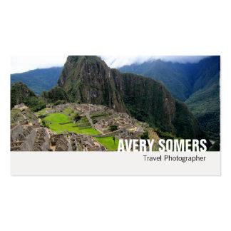El fotógrafo del viaje añade una fotografía grande tarjetas de visita