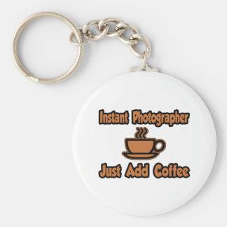 El fotógrafo inmediato… apenas añade el café llavero