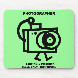 El fotógrafo, toma representa solamente ........ mouse pad