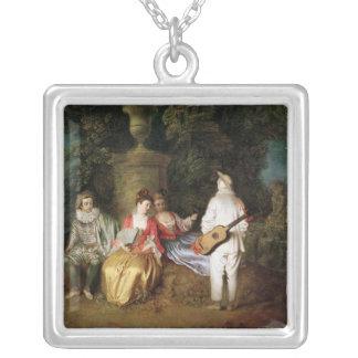 El Foursome, c.1713 Colgante Cuadrado