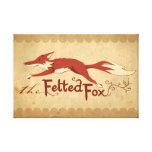 El Fox de Felted Impresiones En Lona Estiradas