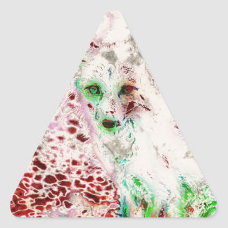 El Fox del fantasma observa rojo y blanco del arte