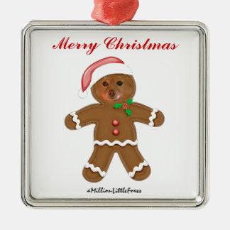 El Fox es el hombre de pan de jengibre Ornamento De Navidad