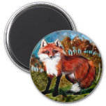 El Fox Foxes el imán de los animales de la fauna