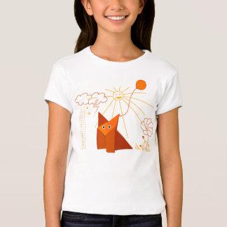 El Fox lindo de Origami es luz feliz Playera