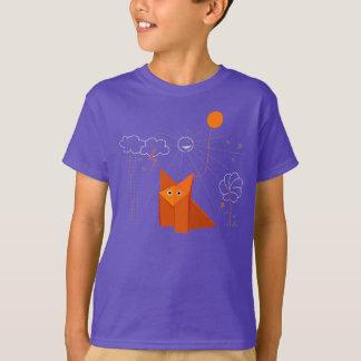 El Fox lindo de Origami es niños oscuros felices Playera