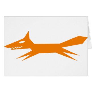 El Fox rápido del naranja Tarjeta De Felicitación