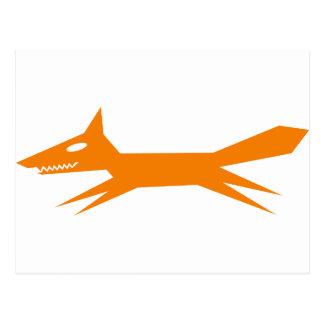El Fox rápido del naranja Tarjeta Postal