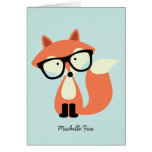 El Fox rojo del inconformista lindo doblado le agr Tarjeton