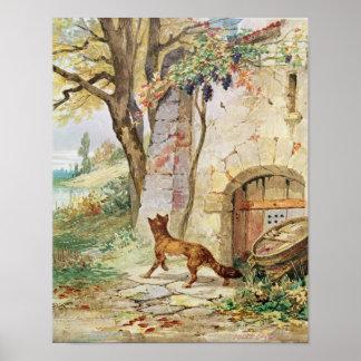 El Fox y las uvas ejemplo para Poster