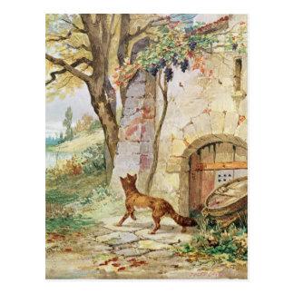 El Fox y las uvas, ejemplo para Postales
