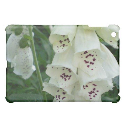 El Foxglove blanco florece la caja del iPad