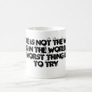 El fracaso no es la cosa peor tazas