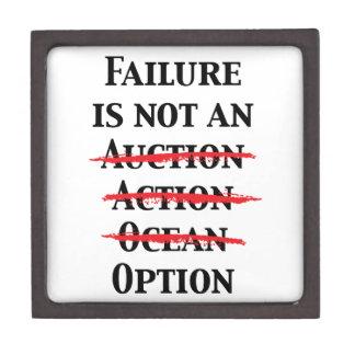 El fracaso no es una opción cajas de regalo de calidad