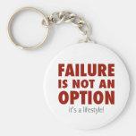 El fracaso no es una opción (es una forma de vida! llaveros personalizados