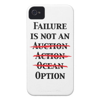 El fracaso no es una opción Case-Mate iPhone 4 carcasas