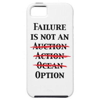 El fracaso no es una opción iPhone 5 carcasa