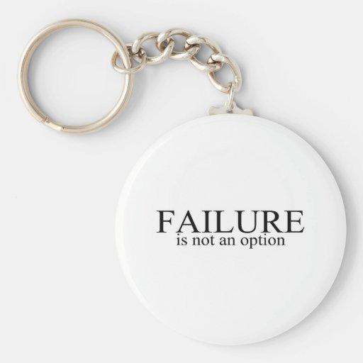 El fracaso no es una opción llavero redondo tipo pin