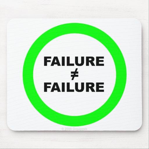 El fracaso no iguala el cojín de ratón del fracaso alfombrillas de ratón
