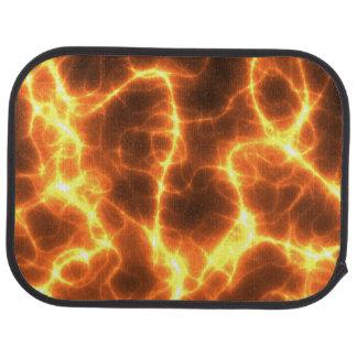 El fractal caliente enrrollado de la electricidad alfombrilla de coche