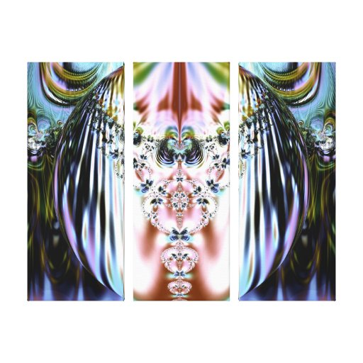 El fractal cristalino envolvió la impresión de la  lienzo envuelto para galerías