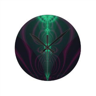 El fractal de la araña reloj redondo mediano