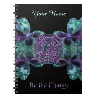 El fractal de Yin-Yang I Ching sea el cuaderno del