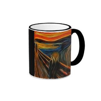 El fractal del grito que pinta a Edvard Munch Taza A Dos Colores
