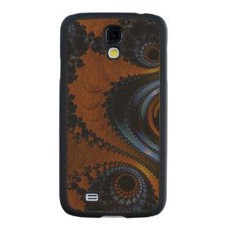 El fractal GalaxyS4 del tono de la tierra adelgaza Funda De Galaxy S4 Slim Arce