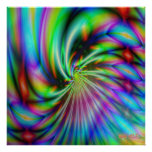 El fractal invierte 4 posters