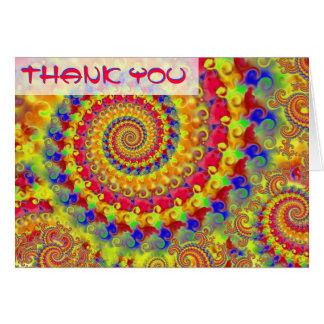 El fractal loco amarillo le agradece cardar tarjeta