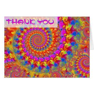 El fractal loco rosado le agradece cardar tarjeta