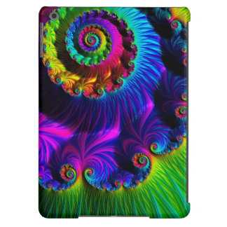 El fractal magnífico del arco iris gira el caso de funda para iPad air
