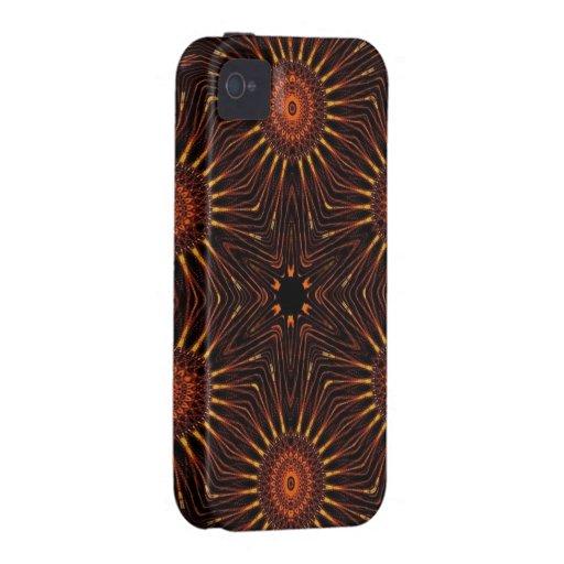 el fractal protagoniza negro del rojo anaranjado iPhone 4/4S carcasas