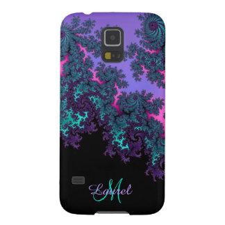 El fractal púrpura del trullo personalizó la caja fundas para galaxy s5