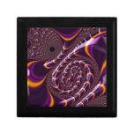 El fractal púrpura, negro Trippy gira la Cajas De Regalo