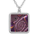 El fractal púrpura, negro Trippy gira la Collares