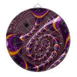 El fractal púrpura, negro Trippy gira la Tabla Dardos