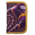 El fractal púrpura, negro Trippy gira la Organizadores